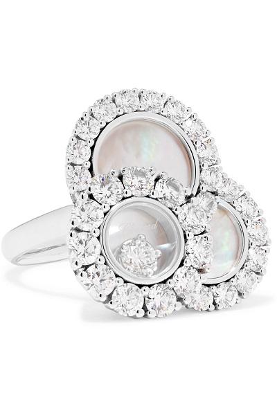 خاتم ذهب أبيض من شوبارد Chopard
