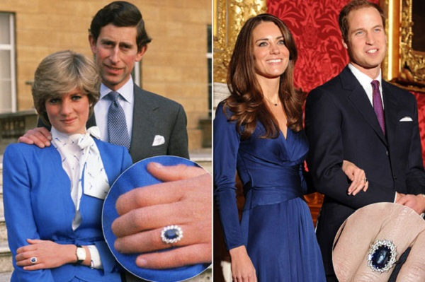 خاتم الياقوت الأزرق الذي ورثته كيت ميديلتون عن الأميرة ديانا