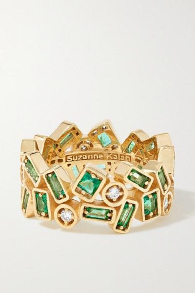 خاتم من الذهب والزمرد من سوزان كالان Suzanne Kalan
