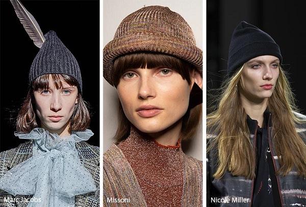 القبعة الصوفية على منصات عروض شتاء 2020