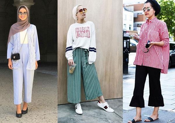 الأزياء التي تناشب المحجبات لإطلالة أنحف