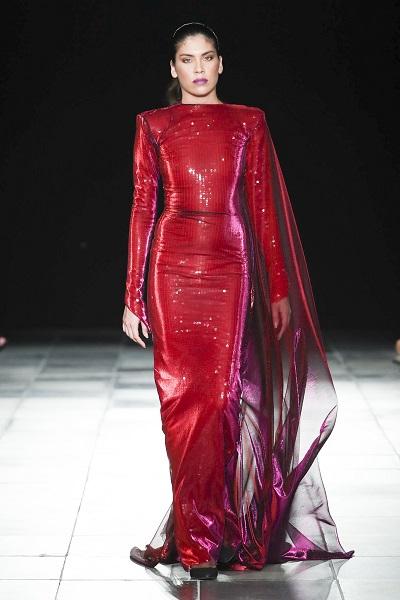 من تصاميم ميخائيل شمعون خلال اسبوع الموضة العربي7