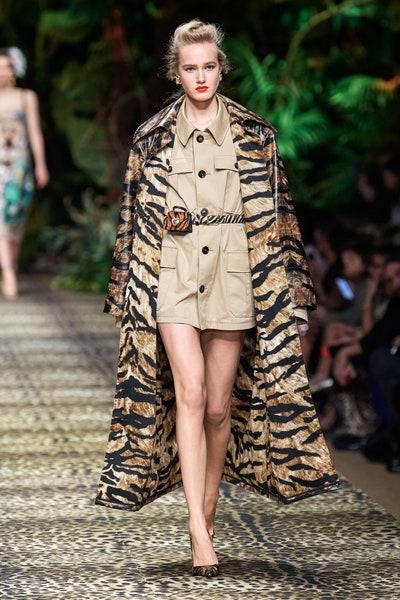 معطف بطبعات الزيبرا من دولتشي اند غابانا Dolce&Gabbana