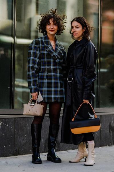 معاطف الجلد وطبعات الكارو من اسبوع الموضة في نيويورك
