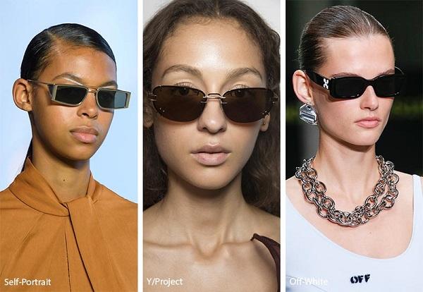 نظارات شمسية بإطار مربّع Rectangular sunglasses