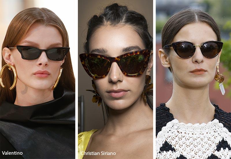 نظارات شمسية ذات إطار بشكل عيون القطة لصيف 2019