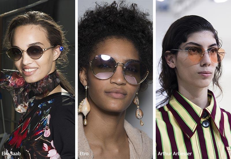 نظارات شمسية ذات إطار مستدير موضة صيف 2019
