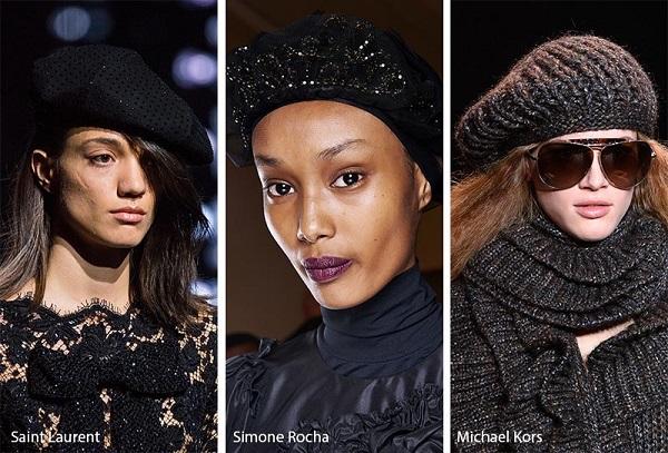 قبعات البيريه على منصات عروض شتاء 2020