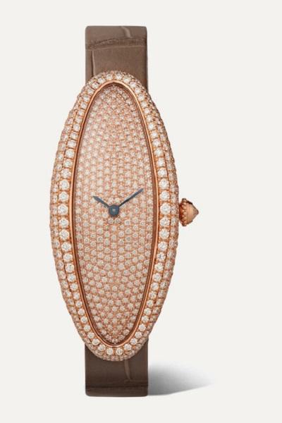 ساعة Baignoire Allongée  من كارتييه Cartier
