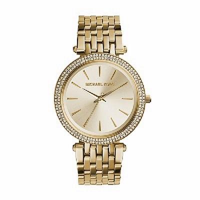 ساعة باللون الذهبي بمينا لؤلؤية للنساء من مايكل كورس