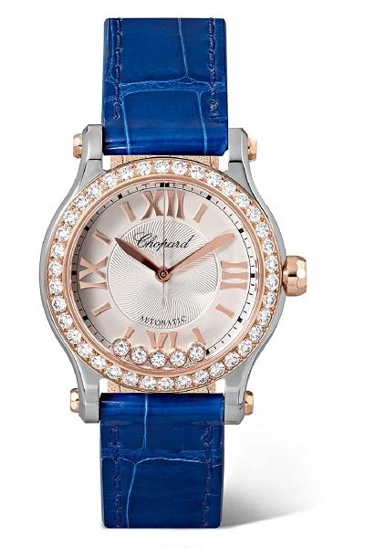 ساعة باللون الأزرق الداكن من شوبارد Chopard