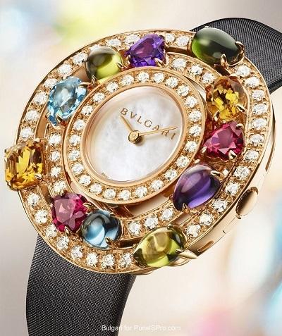 ساعة ملونة من بولغاري Bvlgari