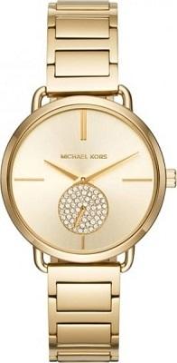 ساعة نسائية مطلية بالذهب بسوار من المعدن من مايكل كورس