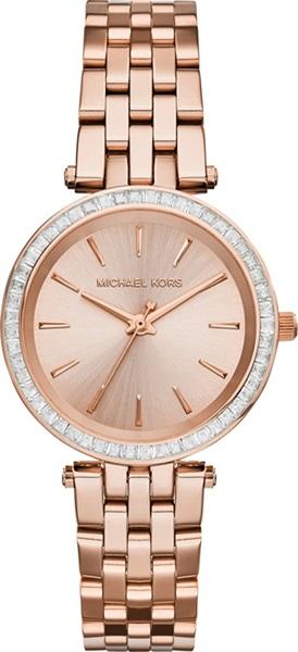 ساعة روز جولد للنساء مرصعة بالمجوهرات من مايكل كورس