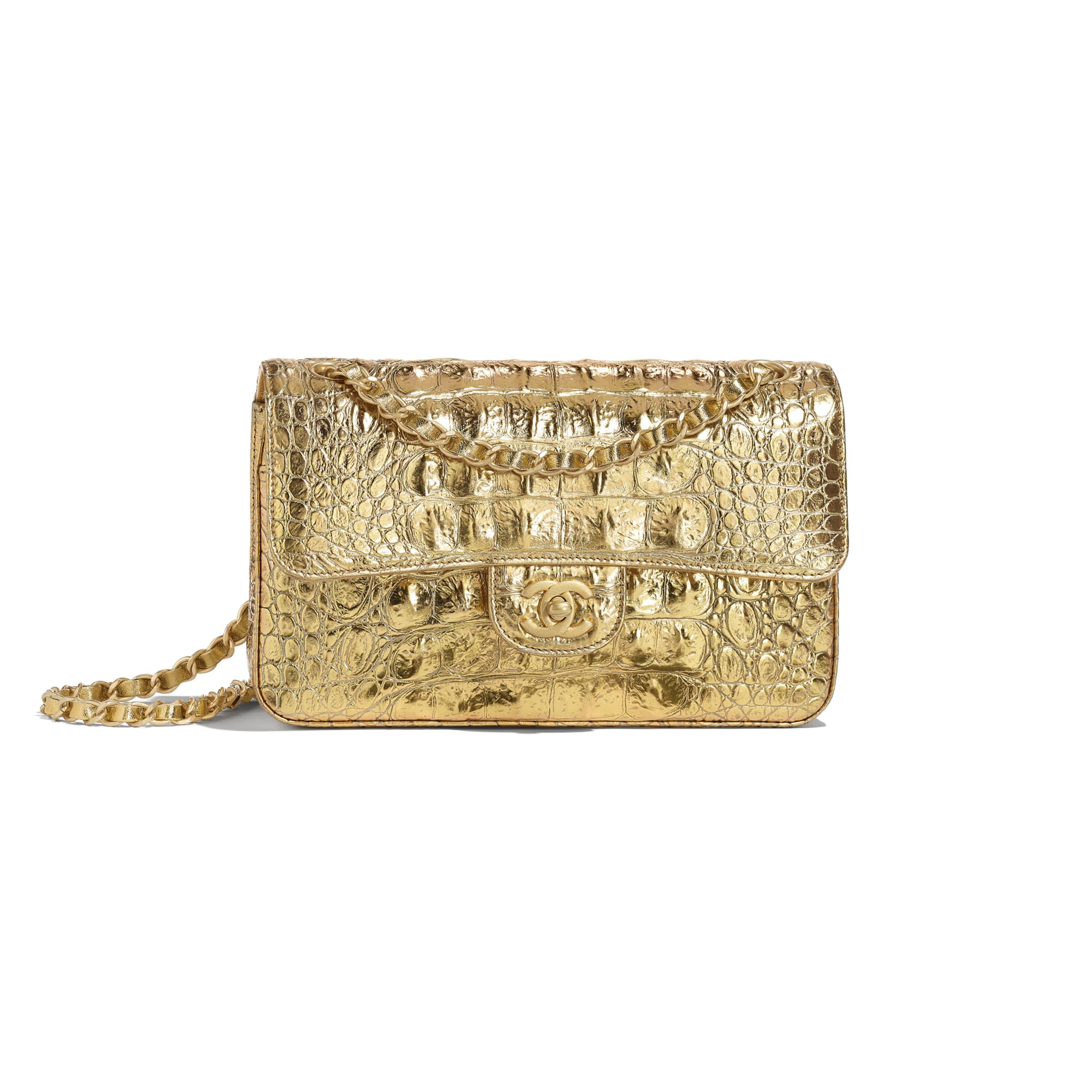 شنطة يد ذهبية من شانيل Chanel