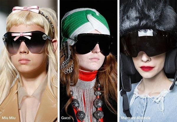 صيحات نظارات شمسية بزجاجة غير منفصلة Shield Sunglasses