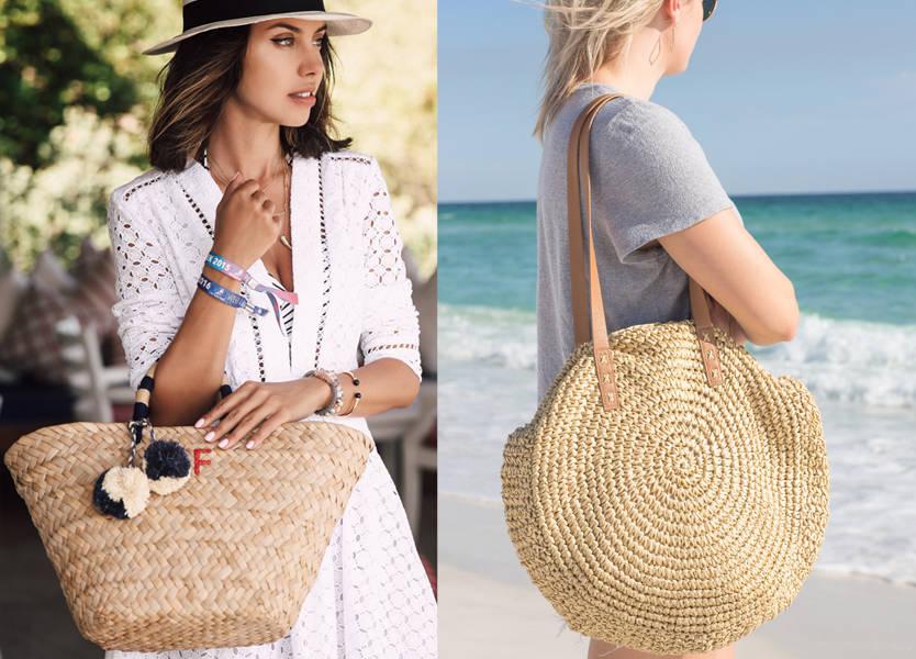 تنسيق حقائب القش خلال صيف 2019