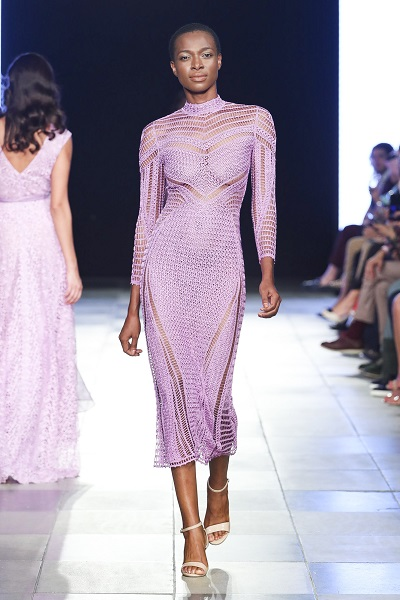 تصميم لعلامة ماليني Malliny خلال اسبوع الموضة العربي