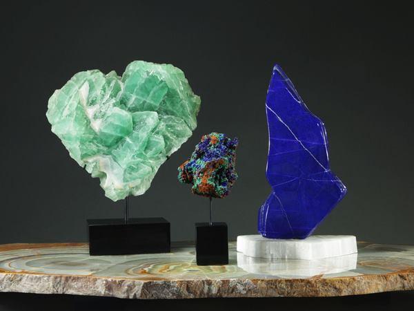 الأحجار شبه الكريمة في الديكور الداخلي