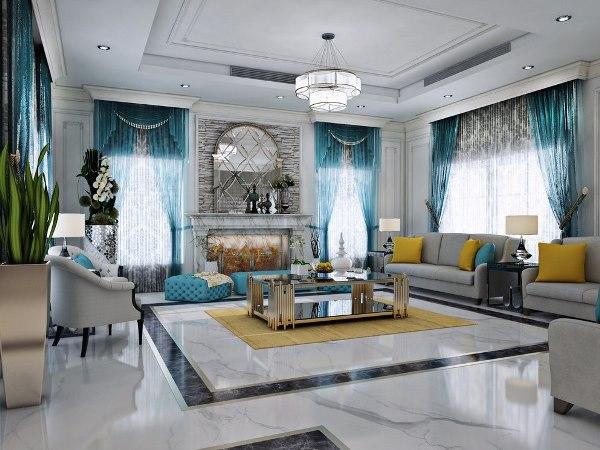 صور ديكورات نيوكلاسيكية في المنازل السعودية