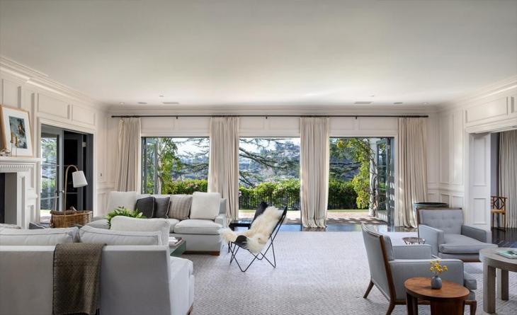غرفة المعيشة في منزل جودي فوستر Jodie Foster