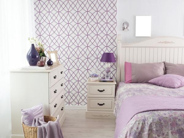 نموذج عن ورق الجدران في غرف النوم