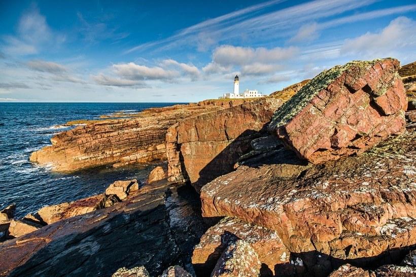 منارة RuaReidh Lighthouse في إسكتلندا