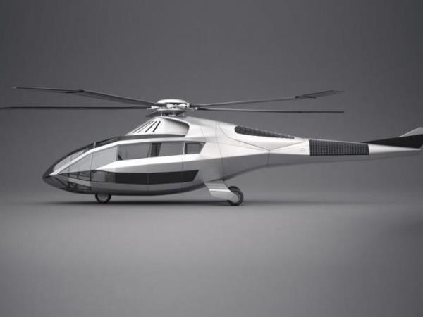 """صور: الرفاهية سمة مروحية FCX-001 المقتبسة من سيارة """"لامبورغيني"""" الرياضية"""