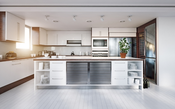 المطبخ يُصمَّم بحسب المساحة المتوافرة