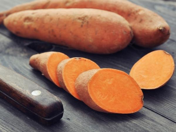 البطاطس الحلوة في رجيم الشتاء