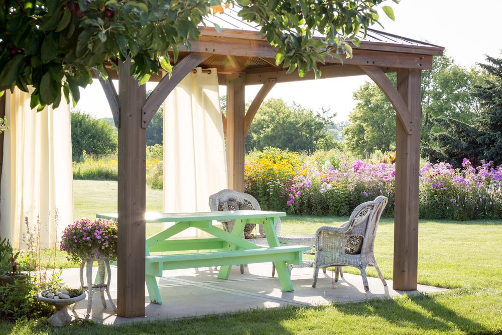 افكار تنسيق حدائق