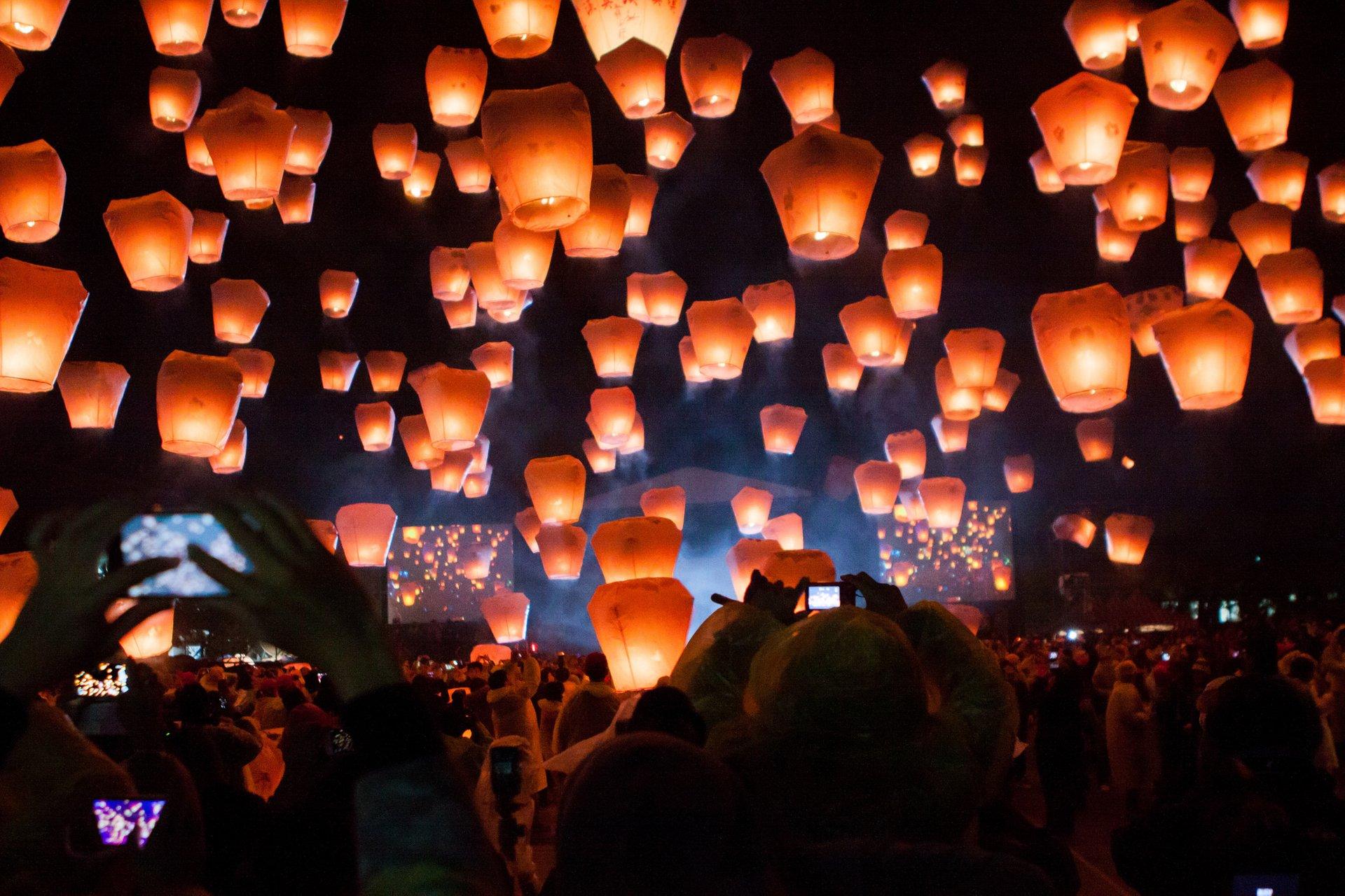 """10 ملايين زائر لـ""""مهرجان المصابيح التايواني"""""""