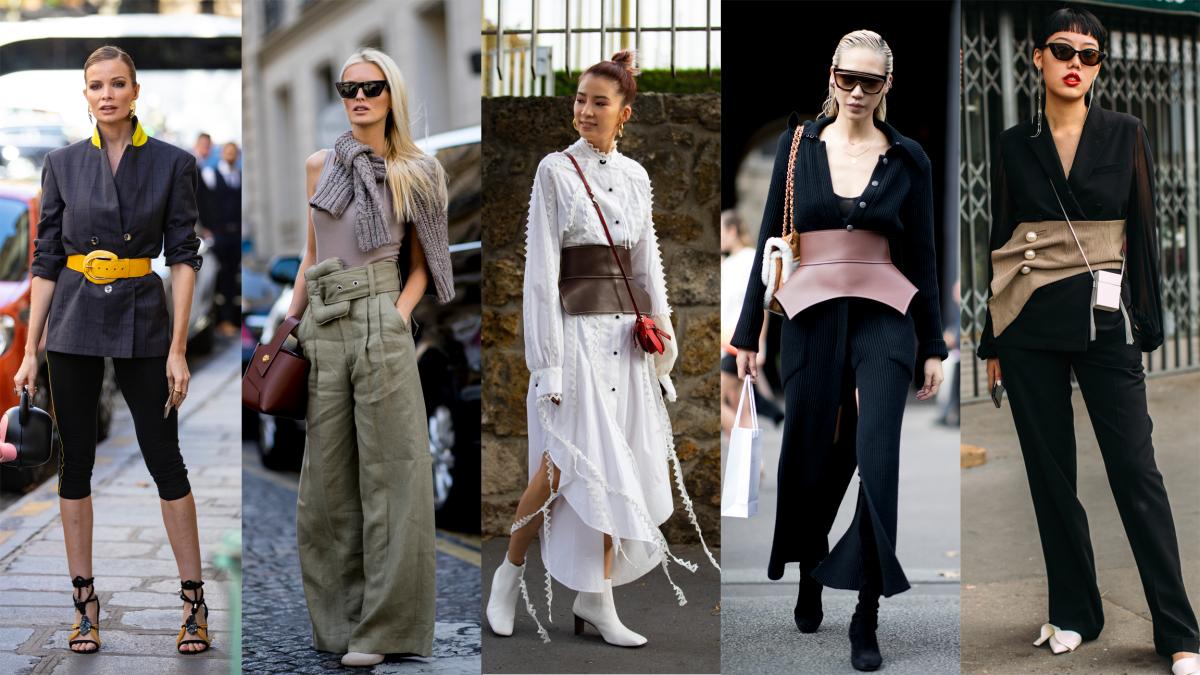 بثينة الرئيسي تنسق حزام الكورسيه -hp-paris-fashion-we