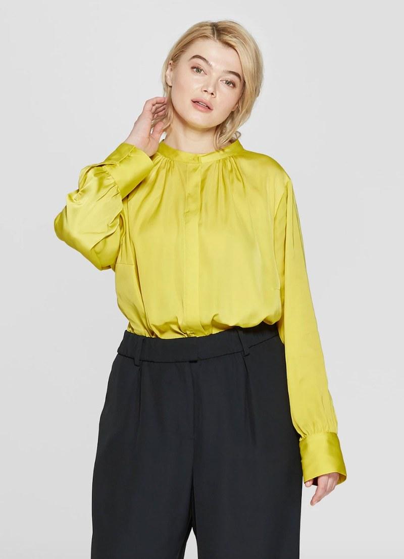 b4d3c6a554b95 الأخضر الليموني ألوان النيون احتلت مكانة كبيرة خلال الشتاء، كذلك على ممشى  عروض أزياء ربيع 2019 ، وقد انتبه المشاهير بسرعة إلى هذا الاتجاه.