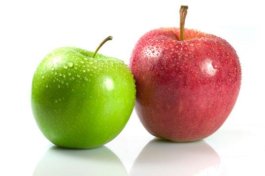 يحتوي التفاح على عدد كبير من الفيتامينات والمعادن