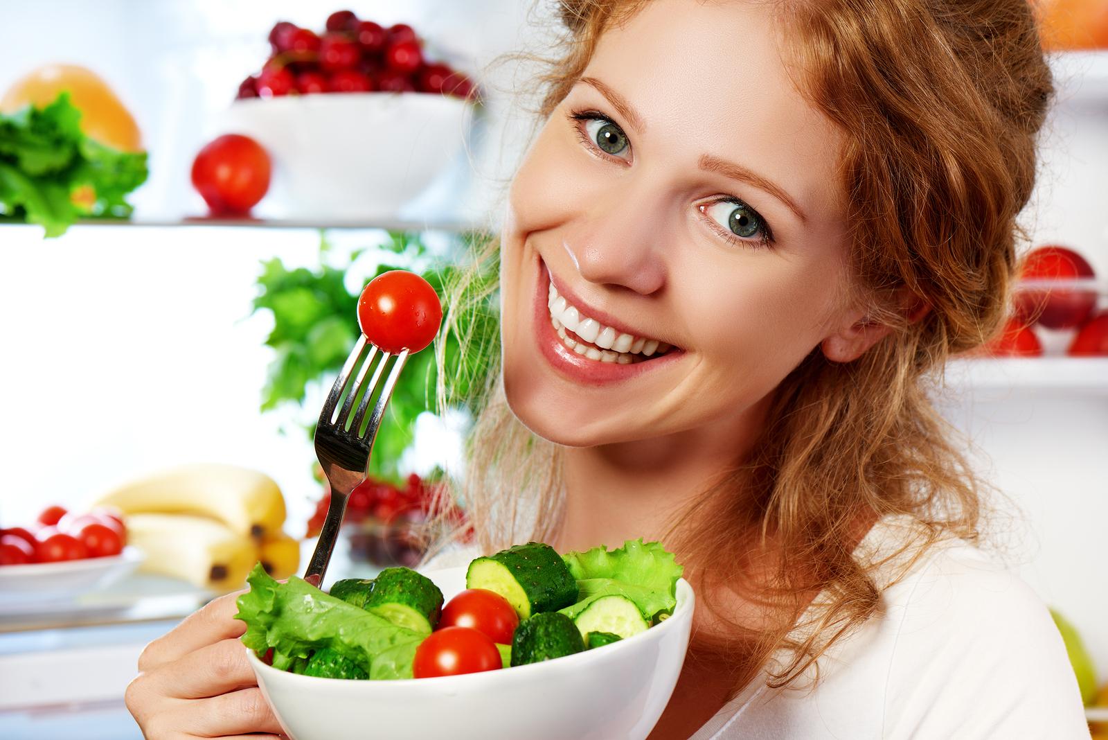 تناول الخضراوات والفواكه