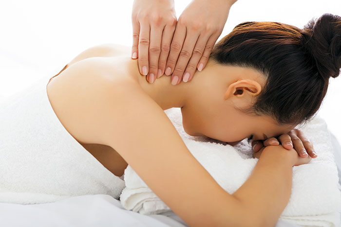 Neck massage may be beneficial for the back as well