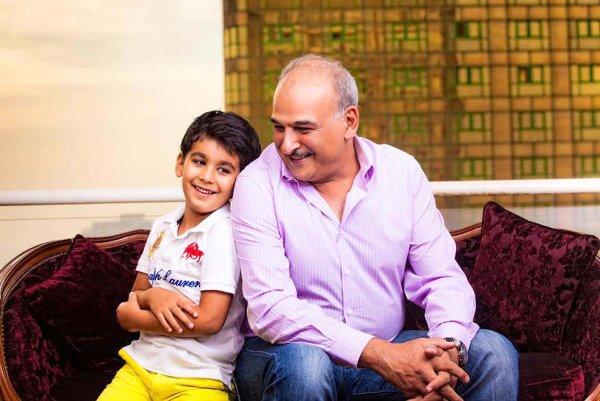 جمال سليمان وابنه محمد