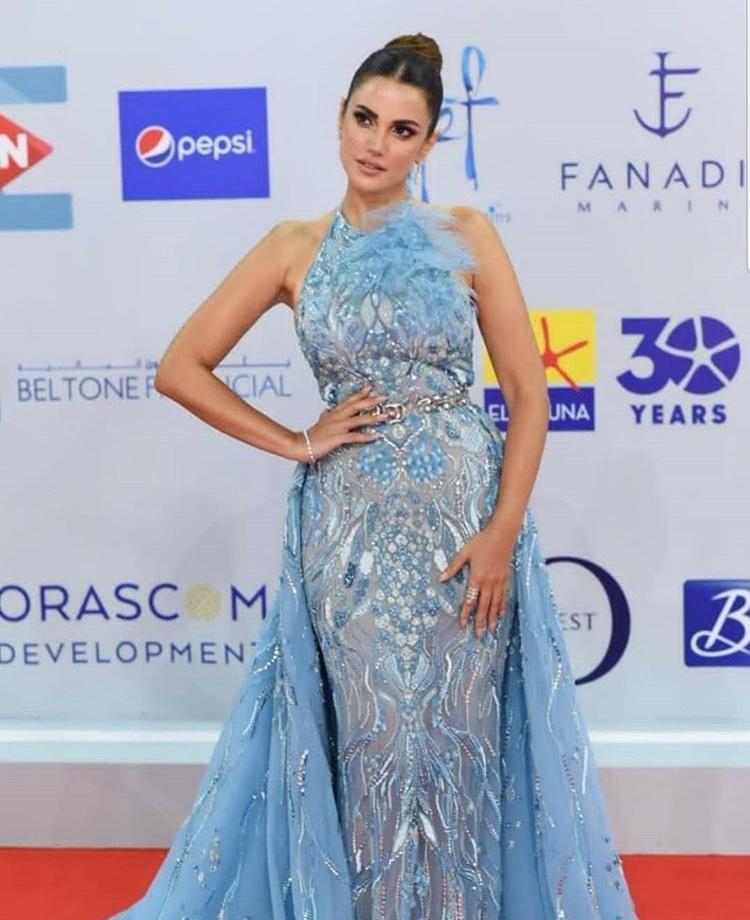 درة بفستان من زهير مراد Zuheir Morad