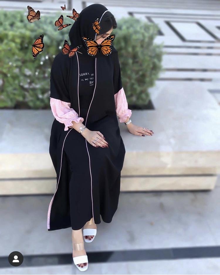 عبايه سوداء نص كم من عفراء وهبي