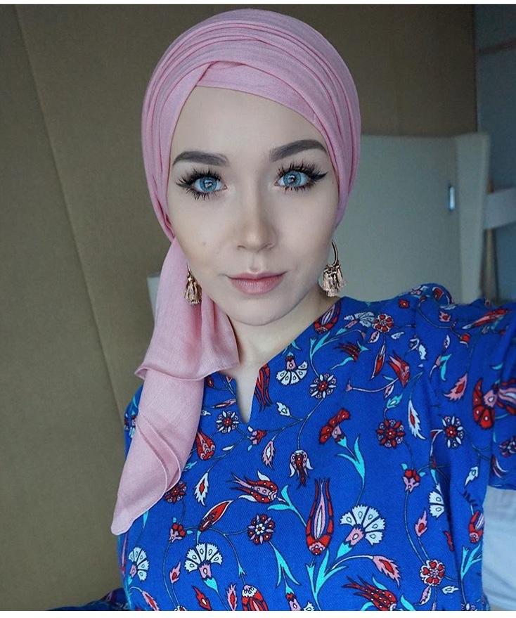 لفة الحجاب الطبقية بخامات القطن