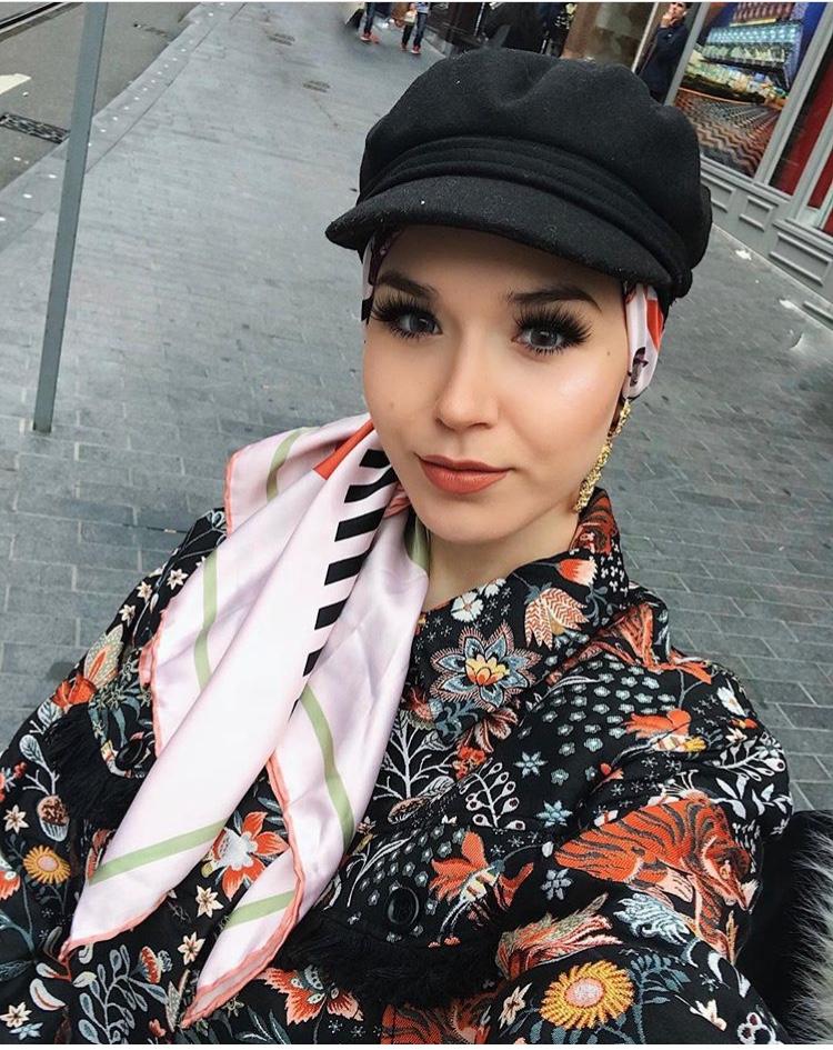 لفات الحجاب مع القبعات الشتوية
