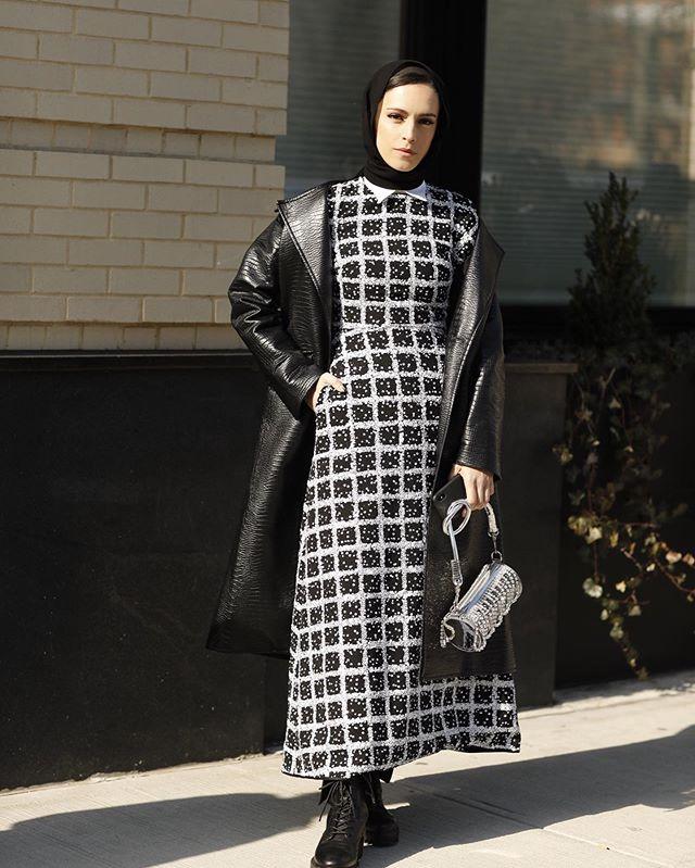 الفساتين المربعة الفخمة من خامة التويد