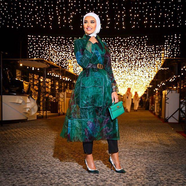 المعطف الأروغانزا الأخضر من مرمر محمد