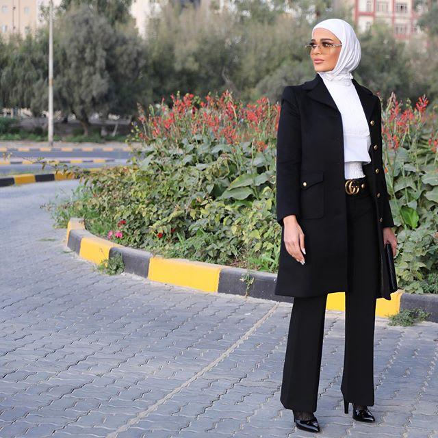 المعطف الطويل مع البنطلون الواسع من مرمر محمد