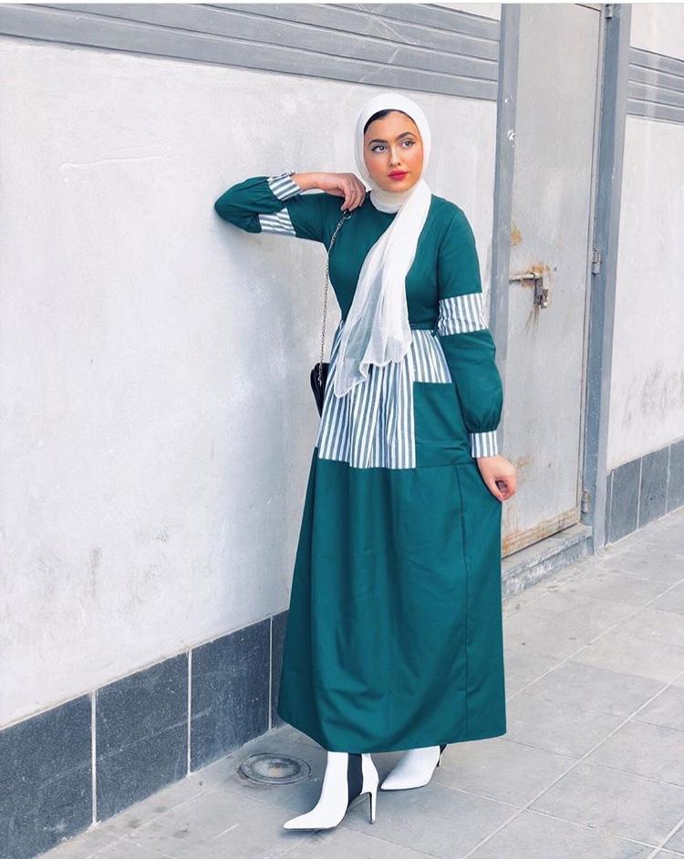 الفستان الأخضر من مريم حسن