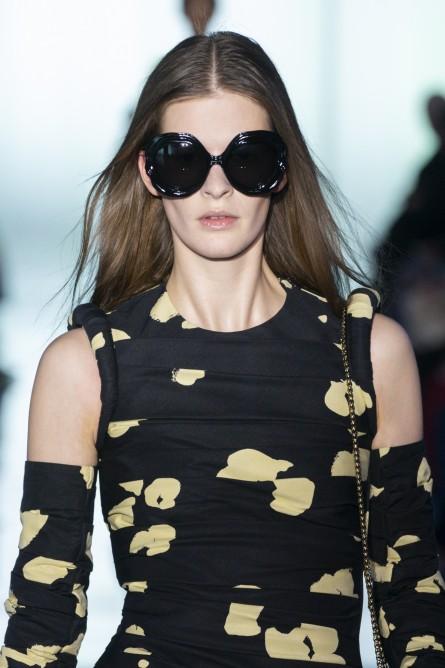 نظارة شمسية بعدسات سوداء بيضاوية كبيرة من Del Core -صورة 2
