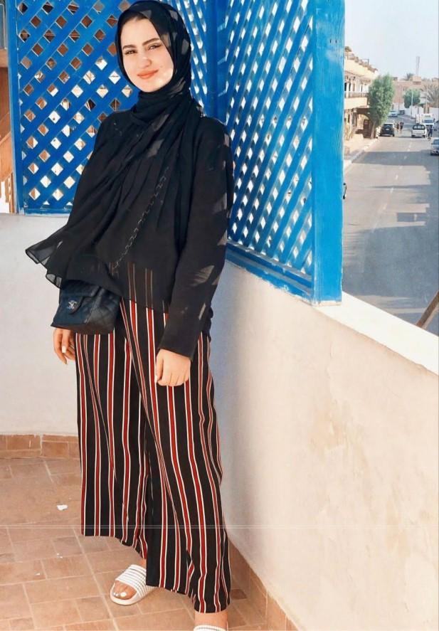 هاجر طارق بإطلالة كاجوال عملية - الصورة من حسابها على الانستغرام