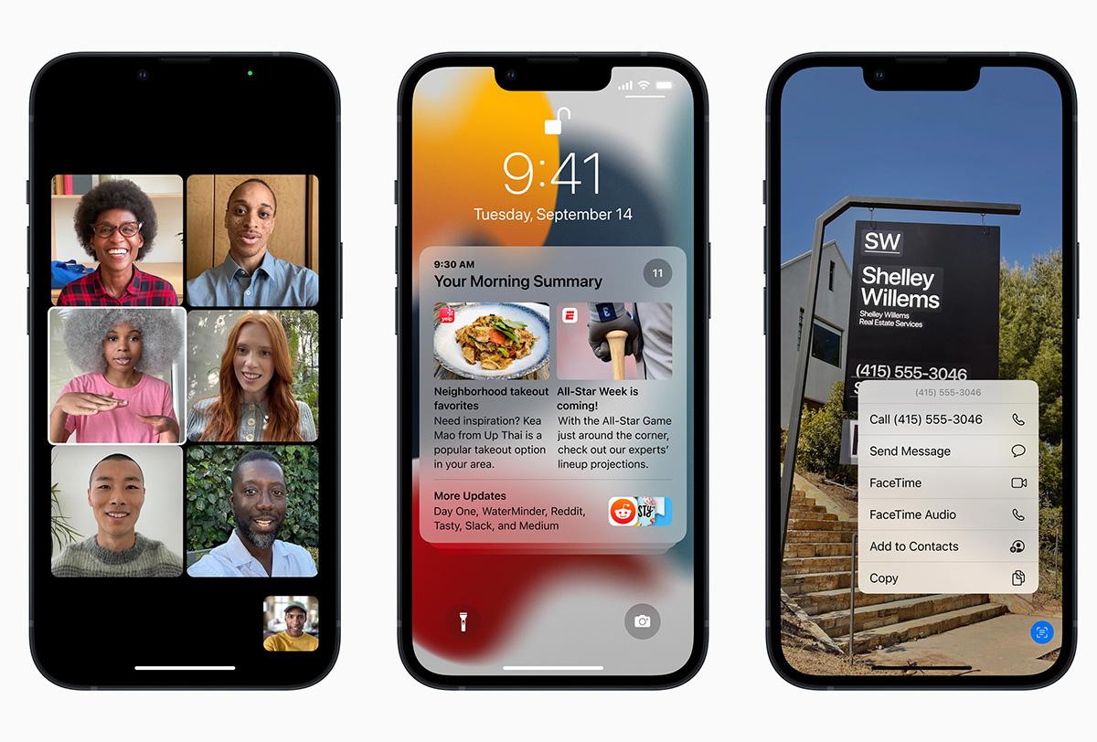 نظام التشغيل iOS 15