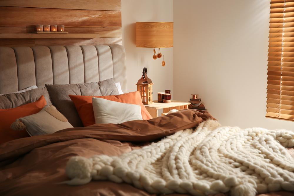 ديكور خريفي في غرف النوم